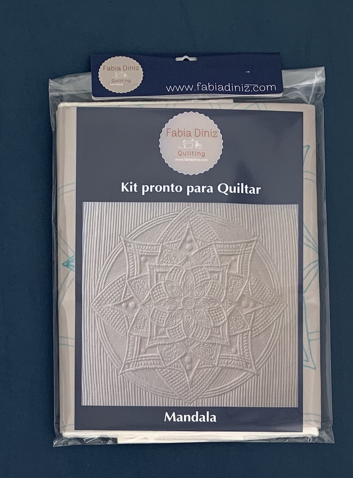 Kit Mandala - Pronto para Quiltar - cor chocolate