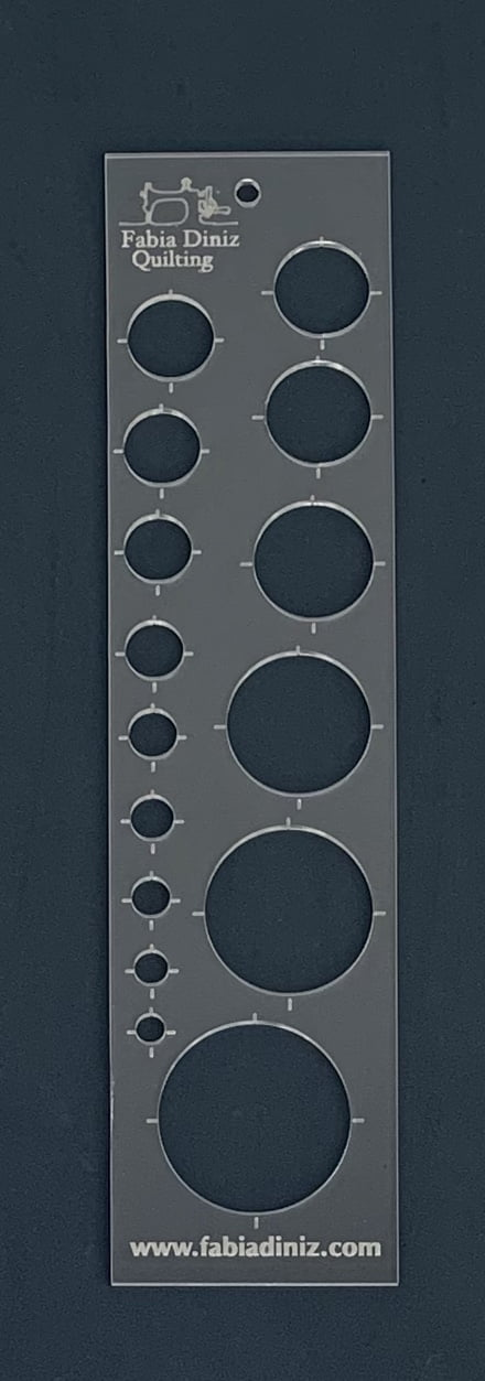 Régua Círculos  36x8 cm