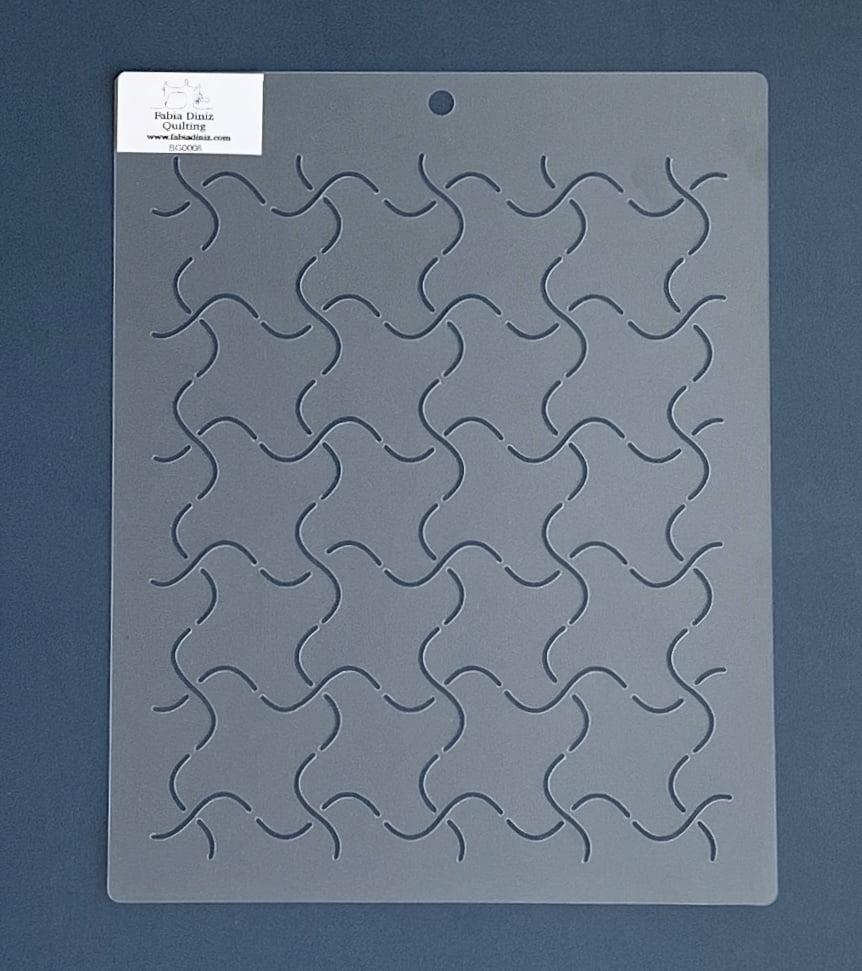Stencil Background BG-0008 25,5x20,5 cm