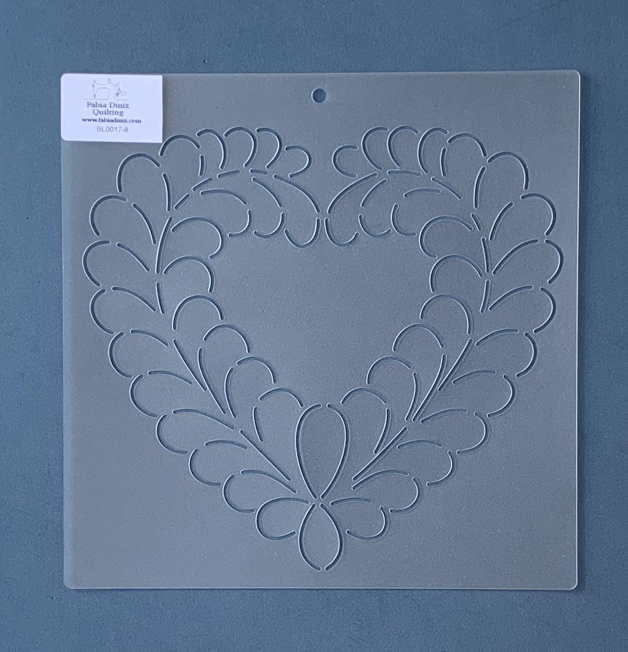 Stencil Bloco Plumas BL-0017-8 23 x 23 cm