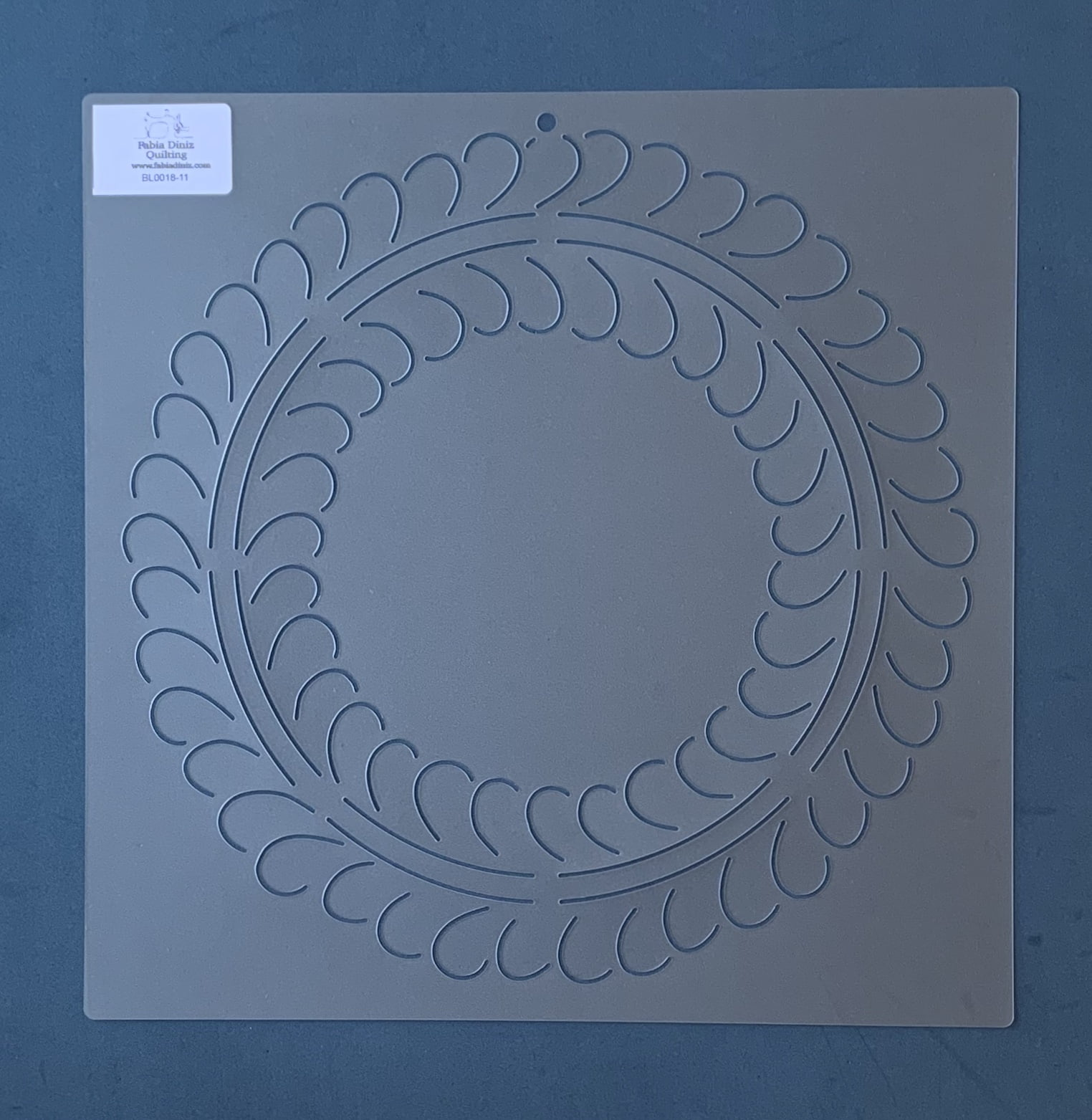 Stencil Bloco Plumas BL-0018-11 30,5 x 30,5 cm