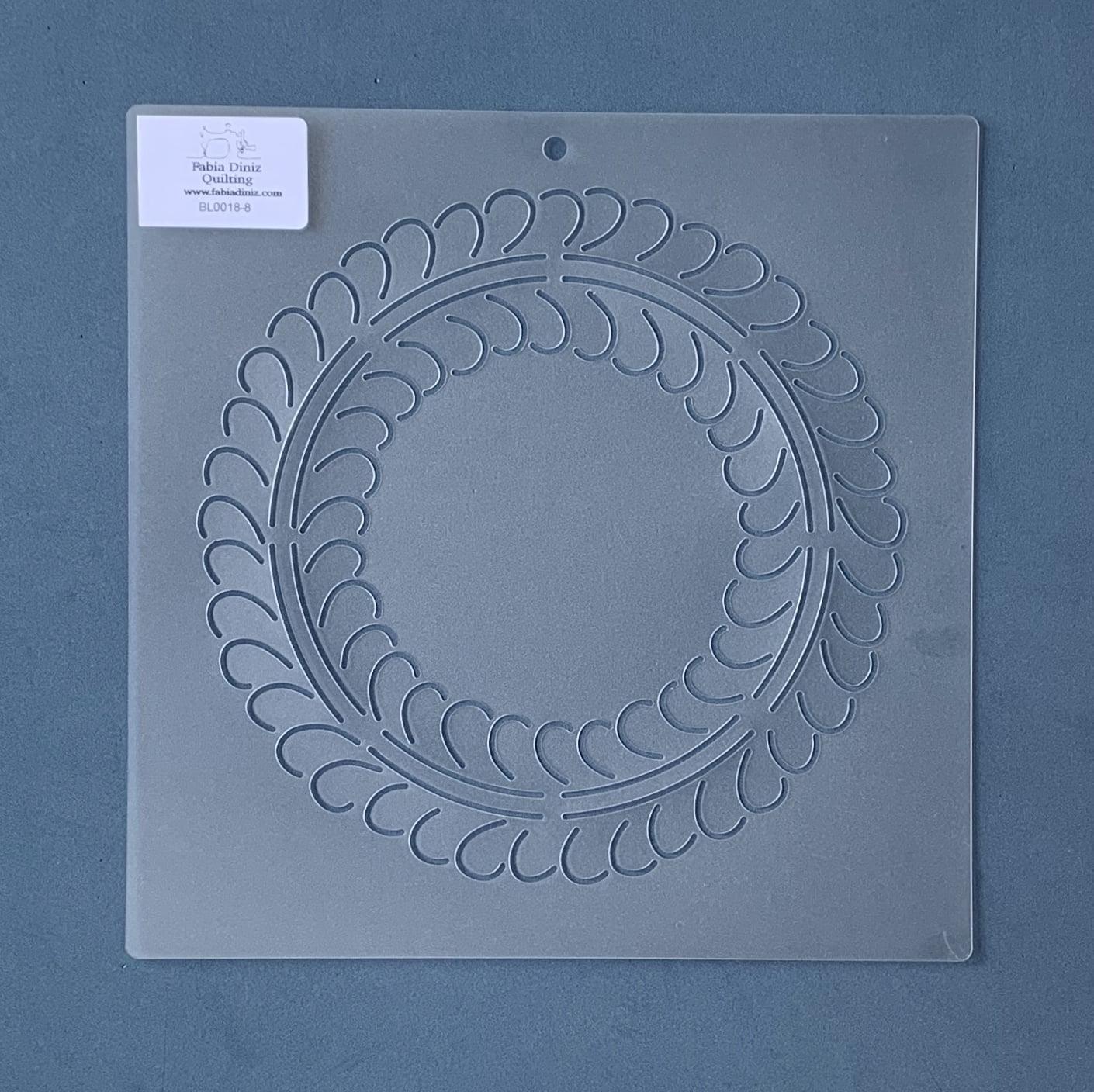 Stencil Bloco Plumas BL-0018-8 23 x 23 cm