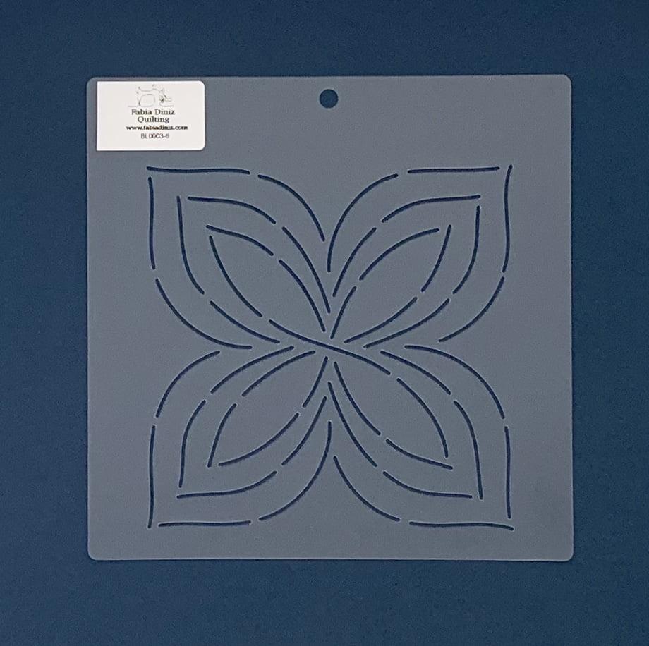 """Stencil Bloco 6"""" BL-0003-6 20x20 cm"""