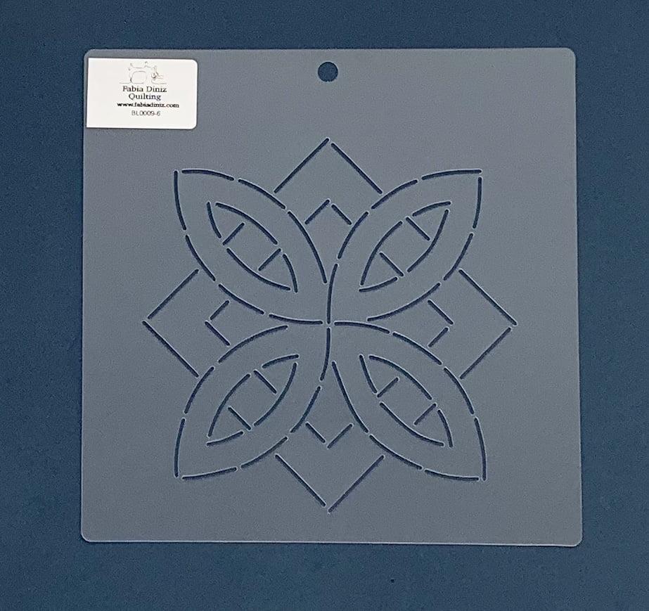 """Stencil Bloco 6"""" BL-0009-6 20x20 cm"""