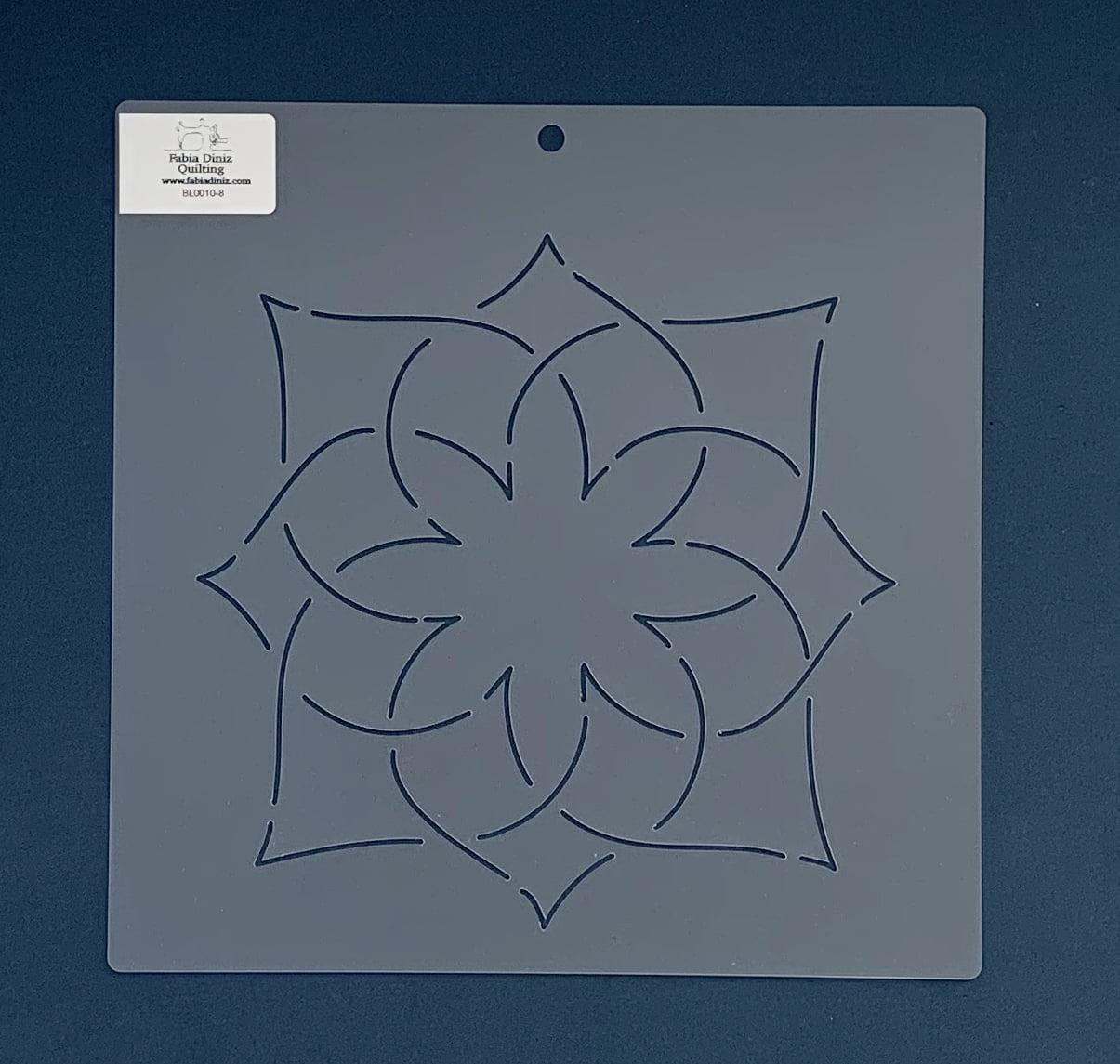 """Stencil Bloco 8"""" BL-0010-8 26x26 cm"""