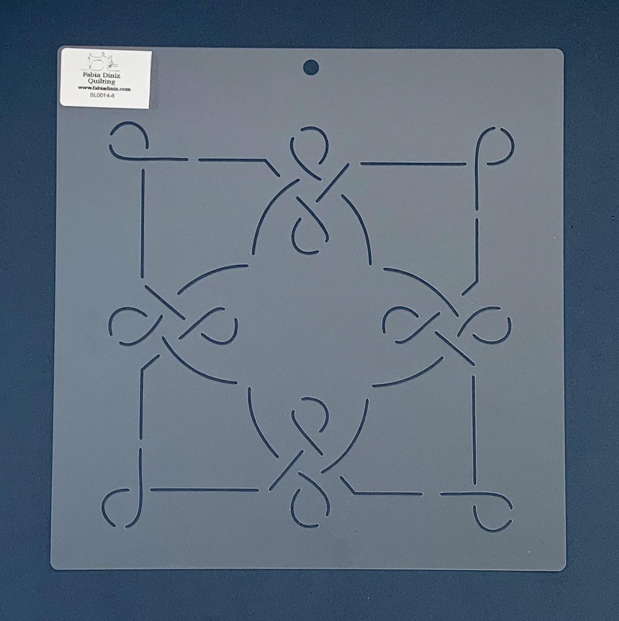 """Stencil Bloco 8"""" BL-0014-8  26x26 cm"""