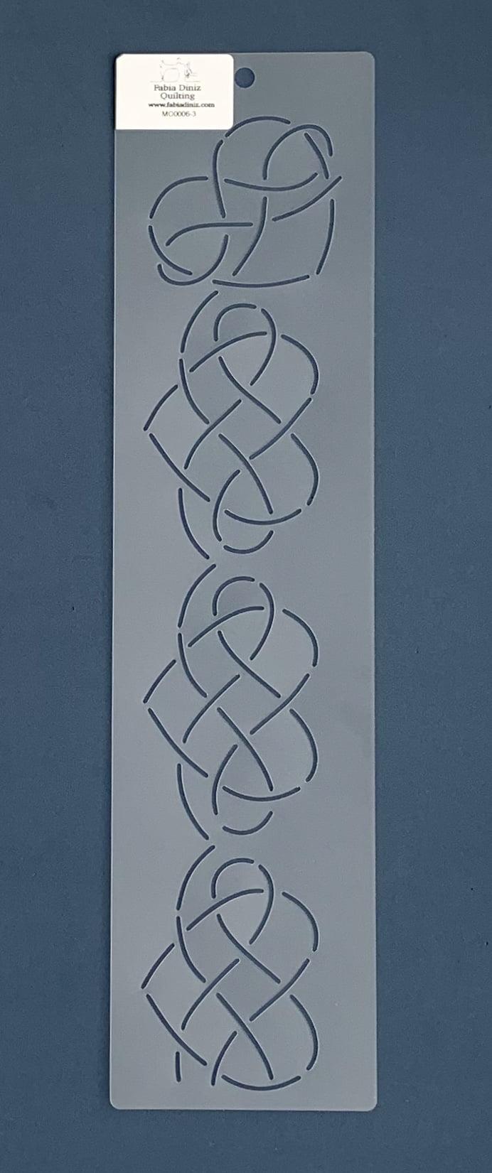 Stencil Moldura MO-0006-3 41x10,5 cm