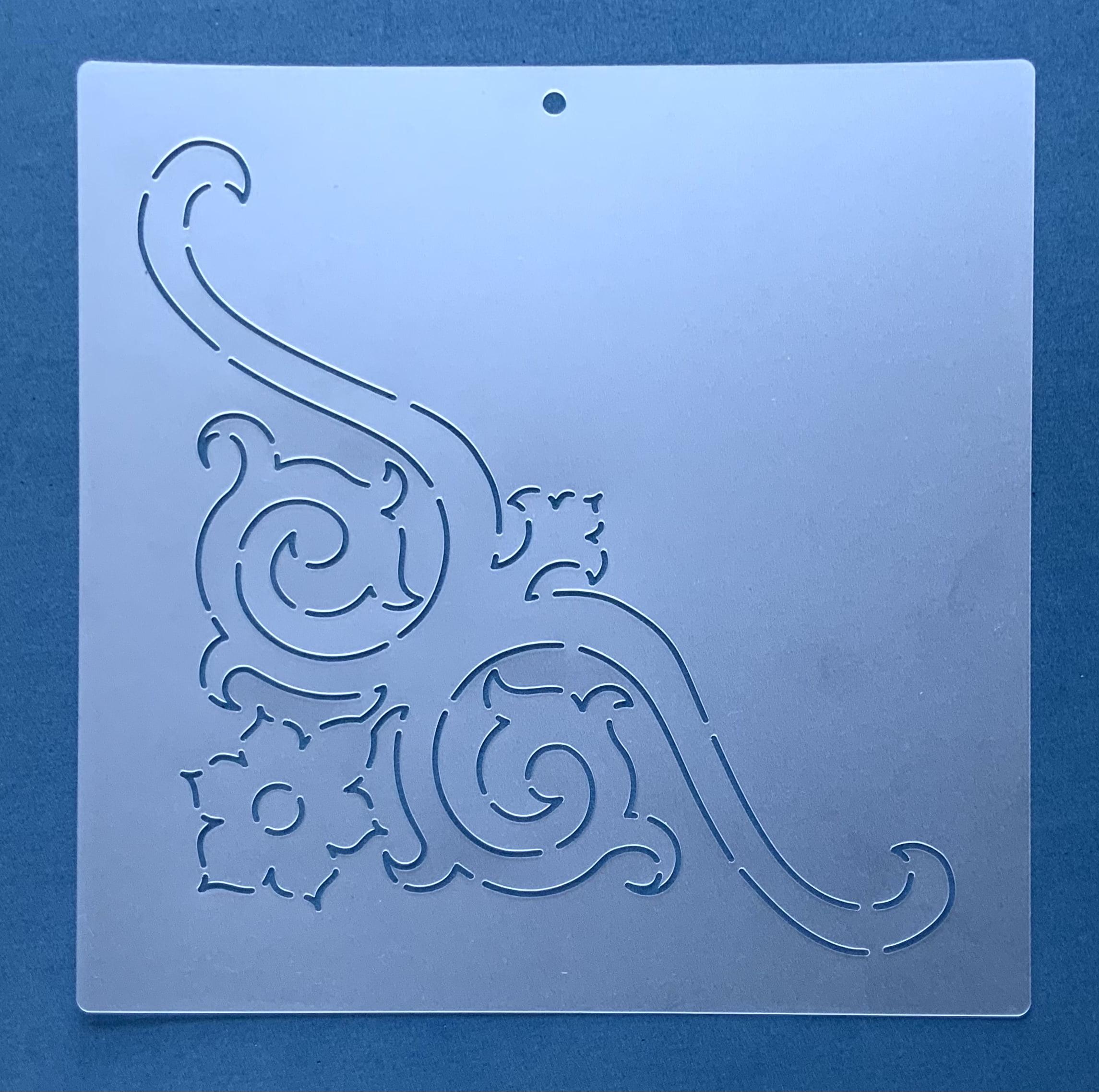 Stencil para Cantos CA-0002 25,50x25,50 cm