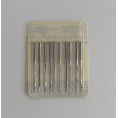 Agulha alemã SFW 1515-01  cabo fino DBx1 MR 2.5  ponta seta R cartela com 10 agulhas , ideal para quilting livre