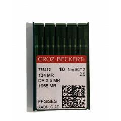 Agulha Groz-Beckert cabo grosso DPx5 MR2.5 FFG/SES ponta bola - embalagem com 10 agulhas