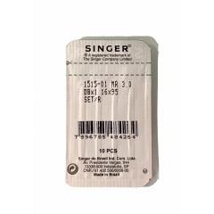 Agulha Singer - Cabo Fino - DB1 MR 3.0 R ponta seta - para máquina reta industrial ( cartela com 10 agulhas)