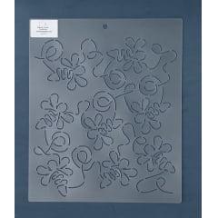 Estêncil Background BG-0017 30x26cm