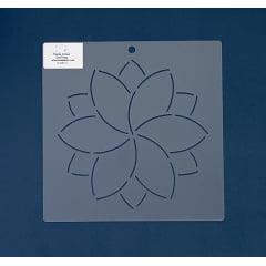 """Stencil Bloco 6"""" - BL-0001-6 20x20cm"""