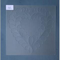 Stencil Bloco Plumas BL-0017-11 30,5 x 30,5 cm