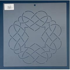 """Stencil Bloco 10"""" BL-0006-10 30x30 cm"""