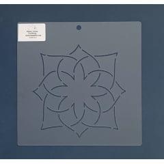 """Stencil Bloco 6"""" BL-0010-6 20x20 cm"""