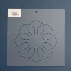 """Stencil Bloco 6"""" BL-0013-6 20x20 cm"""