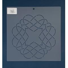 """Stencil Bloco 8"""" BL-0006-8 26x26 cm"""