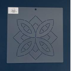 """Stencil Bloco 8"""" BL-0008-8 26x26 cm"""