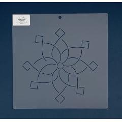 """Stencil Bloco 8"""" BL-0011-8 26x26 cm"""