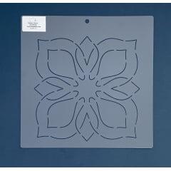 """Stencil Bloco 8"""" BL-0012-8 26x26 cm"""