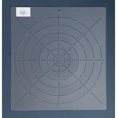 Stencil Linhas de Referência Círculos RE-0001 33x30,5 cm