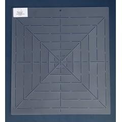 Stencil Linhas de Referencia Quadrado RE-0002 33x30,5 cm