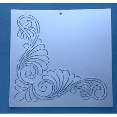 Stencil para Cantos CA-0003 25,50x25,50cm